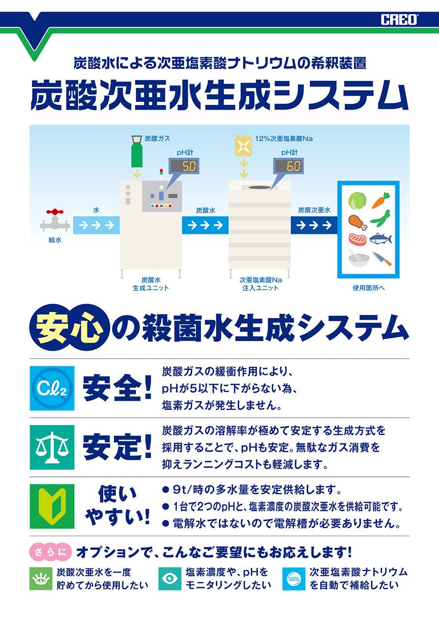 安心の殺菌水生成システム