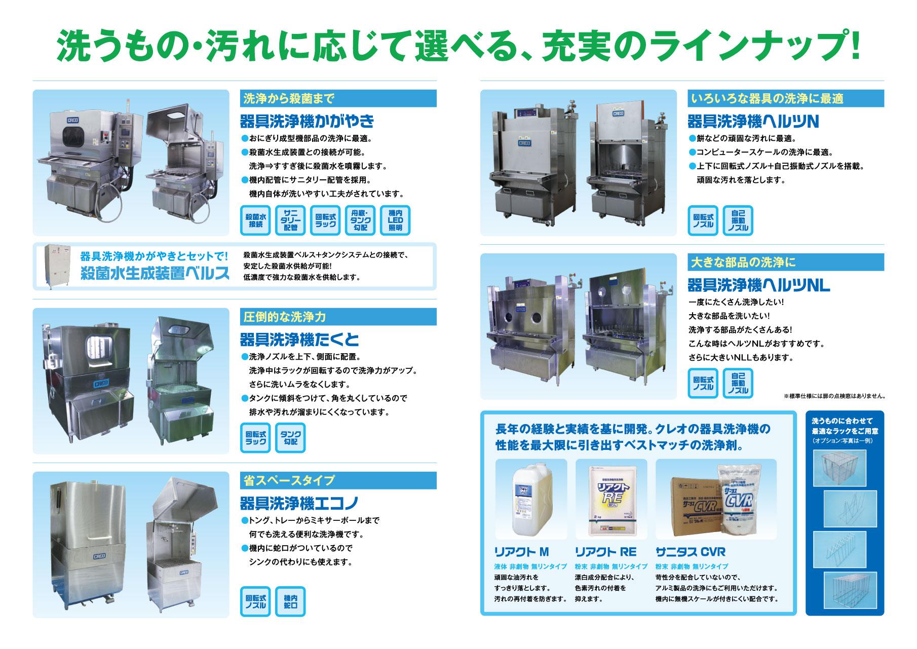 器具洗浄機カタログ(中面)